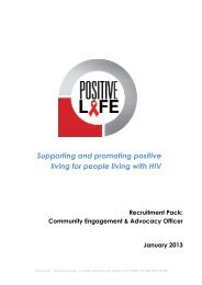 Supporting and promoting positive living for people living with HIV