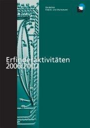 DPMA - Erfinderaktivitäten 2006/2007