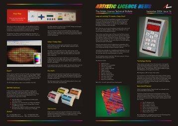 Newsletter 16 - Artistic Licence