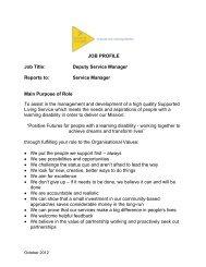 JOB PROFILE Job Title: Deputy Service Manager ... - CommunityNI