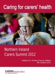 Caring for carers' health