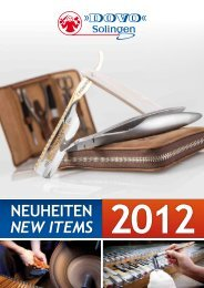NEUHEITEN NEW ITEMS 2012 - DOVO