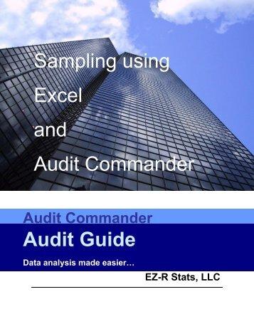 Sampling using Excel and Audit Commander Audit Guide