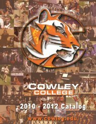 Ours is a story built from the ground up, - Cowley College