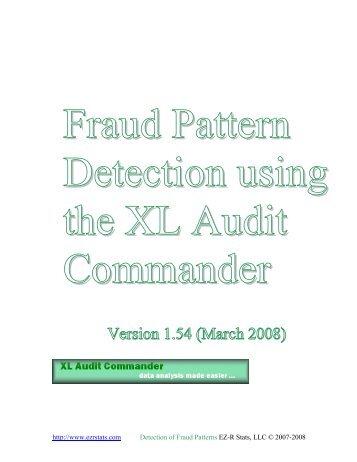 Detection using the XL Audit Commander