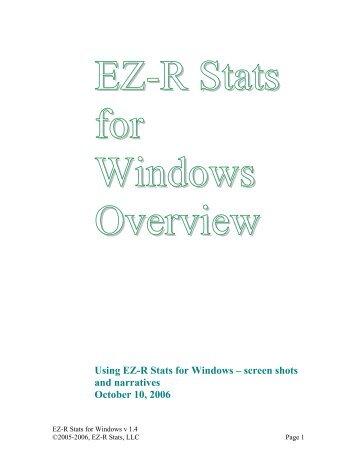 EZ-R Stats for Windows version 1.4 - EZ-R Stats, LLC