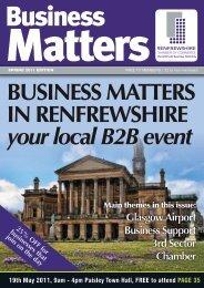 Business Matters - Renfrewshire Chamber of Commerce