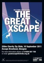 250m Charity Zip Slide 10 September 2011 Xscape Braehead Glasgow
