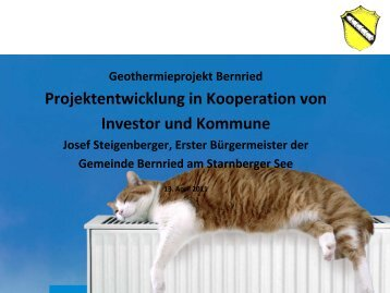 Gemeinde Bernried am Starnberger See BE ... - GGSC Seminare