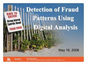 Detection of Fraud Patterns Using Digital Analysis