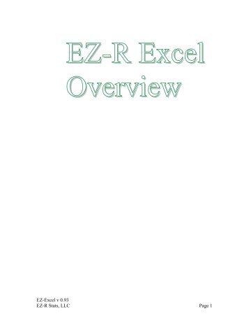 EZ-R Excel Overview