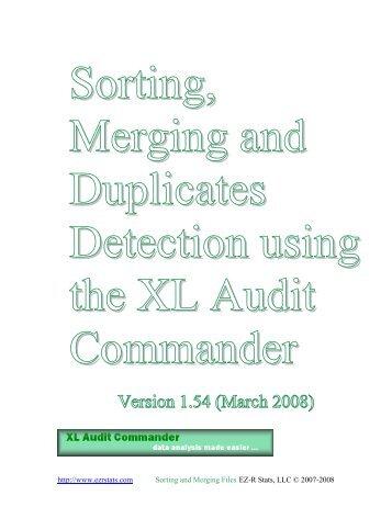 Duplicates Detection using the XL Audit Commander