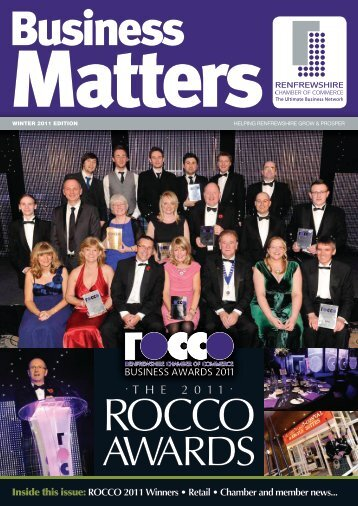 Business Matters Winter 2011 - Renfrewshire Chamber of Commerce