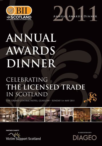 ANNUAL AWARDS DINNER - Renfrewshire Chamber of Commerce