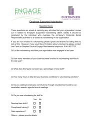 Employee Supported Volunteering Questionnaire - Renfrewshire ...