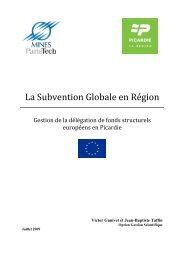 La Subvention Globale en Région
