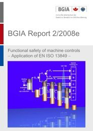 BGIA Report 2/2008 - Functional safety of machine controls