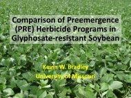 (PRE) Herbicide Programs in Glyphosate-resistant Soybean