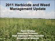 2011 Herbicide and Weed Management Update