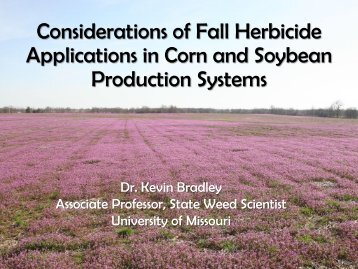 Considerations of Fall Herbicide Applications