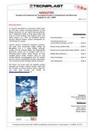 Newsletter 03/09 - Tecniplast Deutschland GmbH