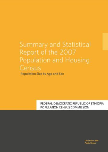 Summary and Statistical Report of the 2007 Population and Housing ...