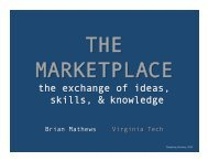 the exchange of ideas, skills, & knowledge - NCSU Libraries
