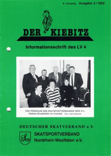 DEUTSCHER SKATVERBAND e.V. SKATSPORTVERBAND - DSkV