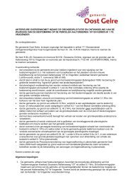 Bijlage 5 Anterieure overeenkomst - Ruimtelijke plannen Oost Gelre