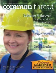 Extreme Makeover, Prayer Power, Passion for our Planet, Little ...