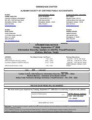 BIRMINGHAM CHAPTER - Alabama Society of CPAs