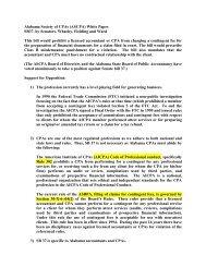 Alabama Society of CPAs (ASCPA) White Paper SB37, by Senators ...