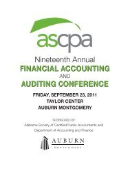 Nineteenth Annual Financial Accounting Auditing Conference
