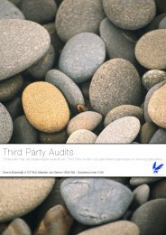 Scriptievoorstel Third Party Audits