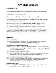 APA Style Citations