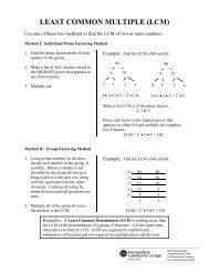 LEAST COMMON MULTIPLE (LCM)