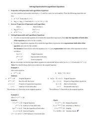 Solving Exponential & Logarithmic Equations  0  ln ln2 3 ln2 3