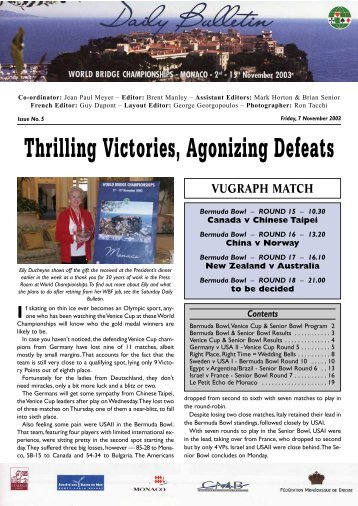 Thrilling Victories Agonizing Defeats