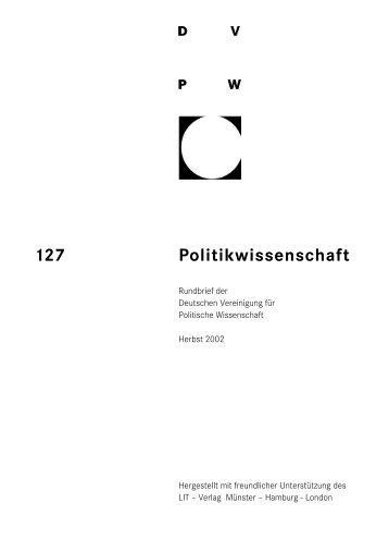 127 Politikwissenschaft - DVPW