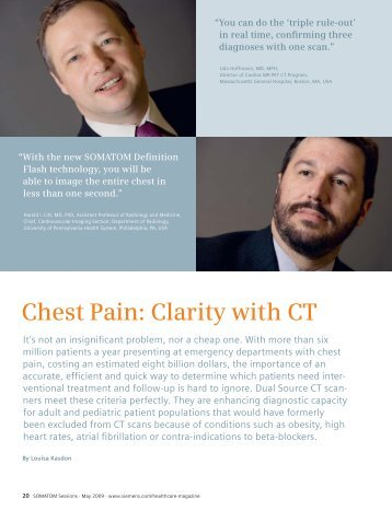 Chest Pain Clarity with CT