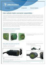 inter-vehicle trailer connector assemblies