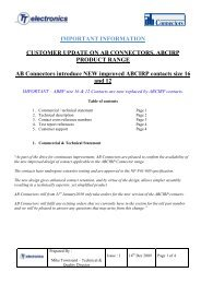 Statement of new ABCIRP contacts - AB Connectors Ltd.