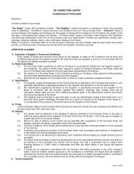 Terms & Conditions of Purchase - AB Connectors Ltd.