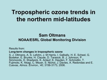 Observational evidence of tropospheric ozone trends in North