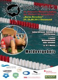 Meldeergebnis - Deutscher Schwimm-Verband eV