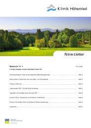 News letter - Klinik Höhenried
