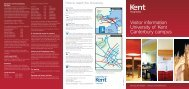 Visitor information University of Kent Canterbury campus