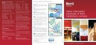 Visitor information University of Kent Canterbury campus