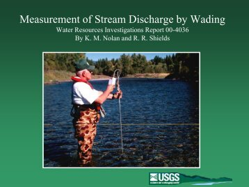 Measurement of Stream Discharge by Wading