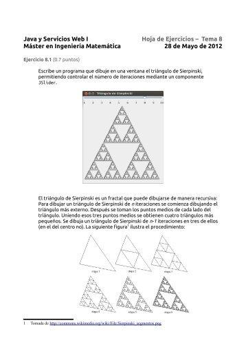 Java y Servicios Web I Hoja de Ejercicios – Tema 8 Máster en ...